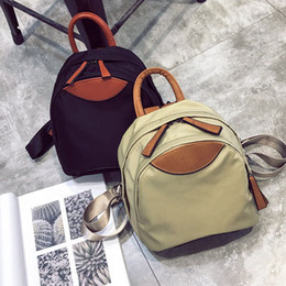 $enCountryForm.capitalKeyWord Canada - Free2019 Cloth Oxford Canvas Both Shoulders Package Woman A Bag School The Wind All-match Small Backpack Travel