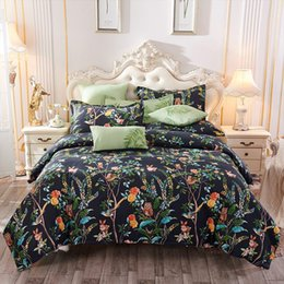 designer double beds 2019 - Designer Quality Explosion Models Popular Cotton Bedding Four Sets Of Cotton Sanding Skin-friendly Simple Double Bed Sin