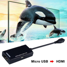 Hd Audio Pc Australia - Micro USB to HDMI HD Adapter cable Male to Female 1080P HD HDMI Audio Video Cable MHL Converter for TV PC Laptop