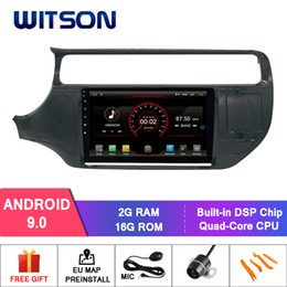 "Discount kia rio dvd gps - WITSON 9""FULL HD TOUCH SCREEN Android 9.0 Octa-Core Car GPS Multimedia Navigation for KIA RIO 2012-2015 Car DVD Pla"