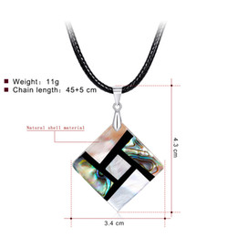 abalone necklaces wholesale NZ - Pearl Abalone Shell Necklace Handmade Personality Charm Necklaces In Stock Factory Women Elegant Clavicle Pendants Wholesale Jewellries