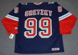 ab5e69cef Mens Womens Kid Custom 99 WAYNE GRETZKY New York Rangers 1998 CCM M N  Alternate Custom Any Name   No Goalie Cut Hockey Jerseys