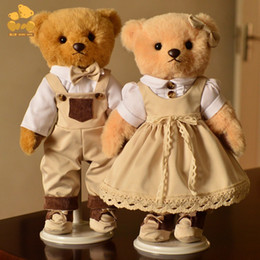 Wholesale lolita toys online – ideas 36cm Teddy bear doll dress delicate Lolita doll girlfriend birthday wedding gift warm Chrismas gift Collection toy