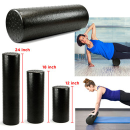 Großhandel 90CM Schwarz extra fester High Density Foam Roller Yoga Pilates Übung Fitness Physio Fitness Studio Massage Rehab Injury