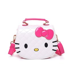 daa550932e Cartoon cute fashion girl handbag toy child shoulder back oblique PU bag  hello kitty