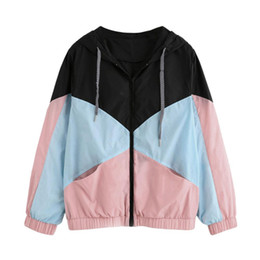 $enCountryForm.capitalKeyWord NZ - Ladies Long Sleeve Mixed Color Sport Running Coat With Zipper Pockets Casual Hoodies jackets Women Harajuku Outdoor Sweatshirt