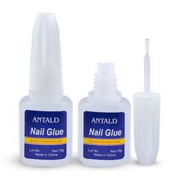 glitter glue NZ - Sale 10g Quick Drying Nail Glue with Brush Nails Glitter Rhinestones Decoration Nail Art