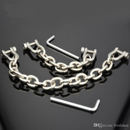 shackle chains bondage NZ - Alloy Handcuffs And Shackle Chains, Hands And Feet Bondage For Men And Women Sex Toys,chastity Devices Adult Products