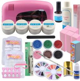 Uv Lamp Kits Australia - UV Gel Nail Art Set Kit Manicure Set 9W UV Lamp For Nail UV Gel Polish Adhesive Remover Glitter Powder Nail Extension Set