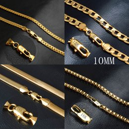 wholesale bulk copper chain NZ - Men's 18K Gold plated chains Figaro Snake Box Chain necklaces For women s Hip hop Jewelry Accessories in Bulk
