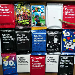 Ship toyS online shopping - Cards Against and Human Card Expansion Pack Card Game Cards All Series Models Can be Choose DHL Whosesale