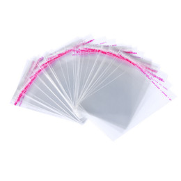 Discount bopp bags - 100pcs lot 9 Size Transparent Plastic Gift Bags Cookie Packaging Bags Self-adhesive Wedding Candy BOPP Poly