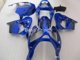 Custom zx9r fairings online shopping - Free custom paint Fairing kit for Kawasaki Ninja ZX9R blue black motorcycle fairings set ZX9R JK21 Gifts