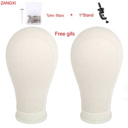 "Mannequin For Hair Style Australia - 21"" 22"" 23"" 24"" 25"" Canvas Head Block Manikin Model For Hair Extension Toupee Lace Wig Making Styling Training Mannequin Head"