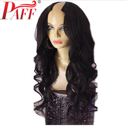 $enCountryForm.capitalKeyWord UK - PAFF 150% Density U Part Wig Human Hair Body Wave 2*4 size For Women With Brazilian Remy Hair Middle Part Natural Hairline