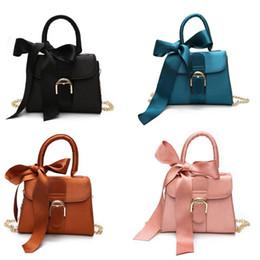 $enCountryForm.capitalKeyWord Australia - Women Female Shoulder Bag Top Handle PU Leather Ladies Handbag Girls Messenger Crossbody Bag With Bowknot Party