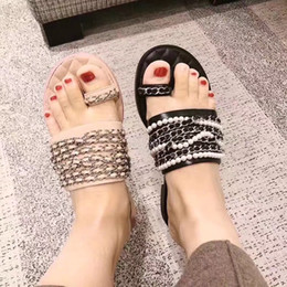$enCountryForm.capitalKeyWord Australia - 2019 cool women's flip flops ladies slipper sandal womens atoll mule with chain and pearl two colors high quality !