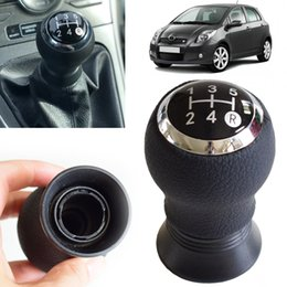 shifting lever Canada - New ABS+Plastic Car 5 Speed MT Gear Shift Knob Lever Shifter Handball Fit For Yaris 2005 2006 2007 2008 2009 2010