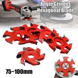 $enCountryForm.capitalKeyWord Australia - Red 75~100mm Right Angle Fillet Disc Hexagonal Blade tray Blade For 16mm Aperture Angle Grinder,Wood carving Grinder