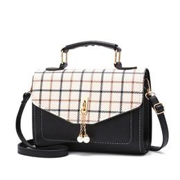 $enCountryForm.capitalKeyWord Australia - 2019 New Plaid Handbag Shoulder Bag Fashion Flap Small Crossbody Bags For Women Messenger Bags Leather Ladies Hand Bags Y19062003