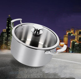 Cheap Quality Kitchens Australia - home kitchen stainless steel cooking stock low soup pot for selling Healty no coating intelligent temperature control high quality cheap tit
