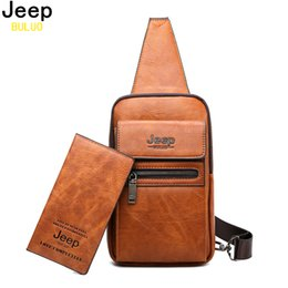 chocolate orange body UK - JEEP BULUO High Quality Men Chest Bags Split Leather Large Size Shoulder Crossbody Bag For Young Man Famous Brand Sling Bags Y200111
