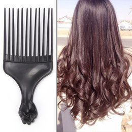$enCountryForm.capitalKeyWord NZ - 2019 New 1Pcs Afro Hair Brush Pick Comb Fork Hairbrush Insert Hair Pick Comb Plastic Gear Comb For Curly Afro Hair Styling Tools