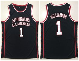 f2927f3b81ee McDonald s All American  1 Zion Williamson Black Retro Basketball Jersey  Mens Stitched Custom Any Number Name Jerseys