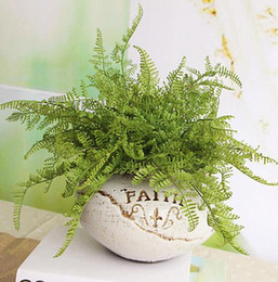 Discount quality fake plants - New High Quality Beauty Fern Fake Plant Artificial Floral Leave Foliage Artificial Plants Home Party Decor Wedding Decor