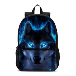 cool school bags for boys UK - New Boys School Bags For Teenager 2019 Cool Wolf Printing Children Backpack Kids Student Bookbag Primary School Backpack Mochila T200514
