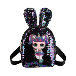 School kidS cartoon characterS online shopping - Kids bags LED Backpacks Girls Bag Cute Sequins Backpack Children Cartoon School Bags Family Matching Bags for Halloween Christmas colors