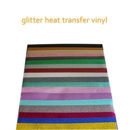 "$enCountryForm.capitalKeyWord Australia - Free shipping 18 sheets 10""x20"" 25cmx50cm Glitter Heat Transfer Vinyl Heat Press T-shirt Iron On HTV Printing SALE!"