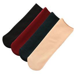362413ad87c6 Autumn Winter Plus Velvet Sock Thickening Adult Anklet Home Floor Bobby Sox  Keep Warm Polyester Fiber Soft Black 2 4jy C1