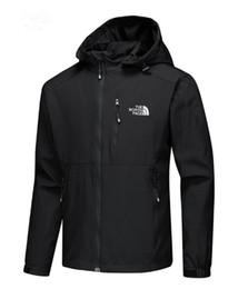 Venta al por mayor de Mens chaquetas de diseño de lujo de manga larga rompevientos windrunner hombres cremallera chaqueta impermeable cara norte con capucha abrigos ropa