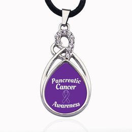 cancer necklaces NZ - PANCREATIC CANCER AWARENESS CIRCLE CHARM Necklaces Jewelry in Pendant Necklaces