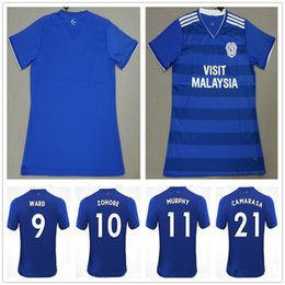 2019 Cardiff City Soccer Jerseys WARD ZOHORE MURPHY CAMARASA HOILETT  DECORDOVA-REID Custom Home Blue 18 19 Adult Football Shirt Uniform aee94d1da
