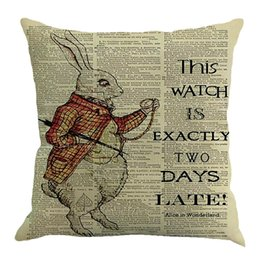 Chinese  Easter Pillow Cases Linen Sofa Cushion Cover Sofa Bed Home Decor Pillow Case W610 manufacturers