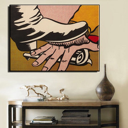 Oil Painting Hd Art Prints Canvas NZ - Roy Lichtenstein Foot and Hand High Quality Hand Painted &HD Print Abstract Wall Art Oil painting on canvas Home Decor Mulit sizes R12.353