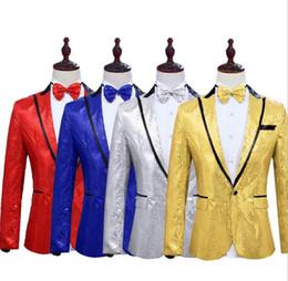 Gold Dance Costume Dresses Australia - Gold silver sequins blazer men suits designs jacket mens stage costumes singers clothes dance star style dress masculino homme