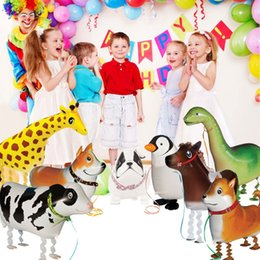 Wholesale happy birthday cats for sale - Group buy Kids Gift Walking Animal Balloons Cute Cat Dog Rabbit Panda Dinosaur Tiger Balloons Pet Balls Party Happy Birthday Decoration