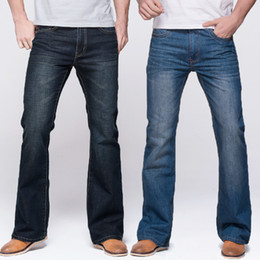boots deep Australia - Grg Mens Jeans Tradition Boot Cut Leg Fit Jeans Classic Stretch Denim Flare Deep Blue Jeans Male Fashion Stretch Pants MX190718