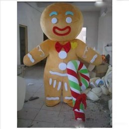 $enCountryForm.capitalKeyWord Australia - 2018 new real product pictures Hot sales gingerbread man Mascot Costume Adult Size! EMS free shipping