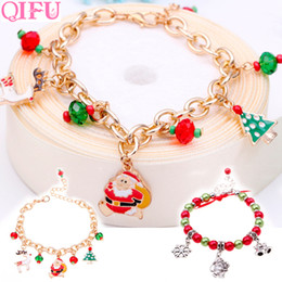 bracelets linens Australia - QIFU Merry Christmas Decorations For Home 2019 Christmas Ornaments 2019 Navidad Santa Claus Bracelet Natal Decor Noel