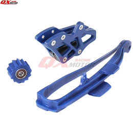 chain guides UK - Free shipping Chain Slider Swingarm Guide Lower Roller + Rear Chian Guide Guard Kits For WR250F WR450F YZ250F YZ450F NEW