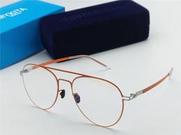 aef2a68bc Nova qualidade superior EERO Mykita quadro ultraleve sem parafusos elástico  Inoxidável moda feminina óculos ópticos homens óculos Com Caso Original
