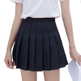 4e82d9e5bb9c Cute Japanese Preppy School Girls Skirts With Shorts Under Women Mini Saias  Sailor Jk Uniform High Waist Pleated Skirt Y190411