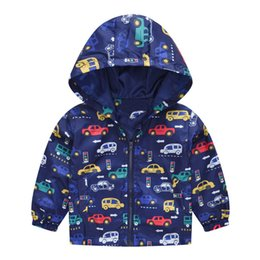 spring flannel NZ - 2019 Spring Autumn Kids Jackets Girls Windbreaker print Hoodie Boys Coats Baby Outerwear Casaco Menina Flower Cat Enfant Blazer