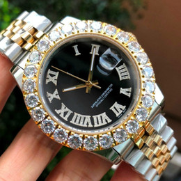 DiamonD gem stone online shopping - New Gold President Datejust Stainless Luxury Designer Iced Out Diamond Automatic Mens Watch Reloj Wristwatches Watches