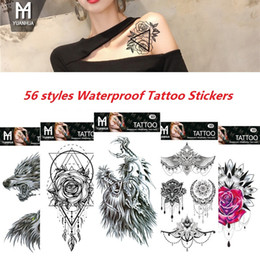 Back tattoos for men online shopping - Waterproof Temporary Tattoos Stickers Dreamcatcher Feather Totem Flower Fake Flash Tattoo Stickers Body Art for Men Women