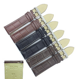 $enCountryForm.capitalKeyWord UK - Genuine Leather Watchbands 18mm 19mm 20mm 21mm 22mm 24mm Watch Band Strap Belt Pin Buckle Quick Release Raw Ear